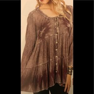 218-304CL/GY 01 Sacred Threads Blouse. S/M